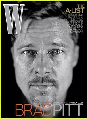 Brad Pitt en la revista W 1