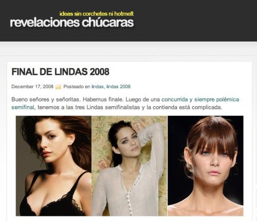 La más linda del 2008 3