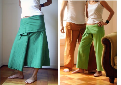 Faldas y pantalones thai 1