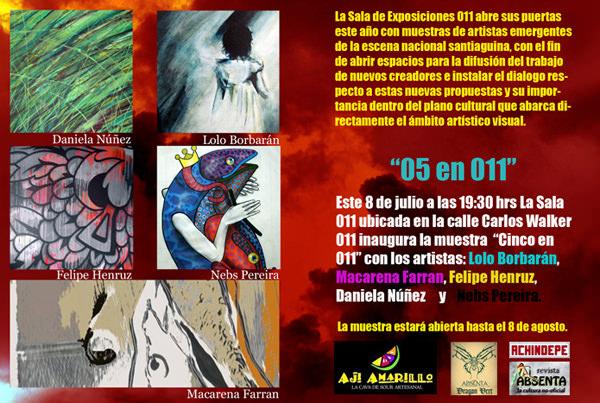 Muestra de arte: Cinco en 011 1