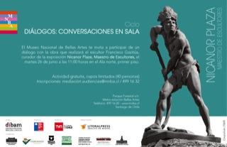 Ciclo Diálogos: Conversaciones en Sala, Nicanor Plaza, Maestro de Escultores 1