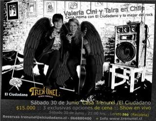 Taira y Valeria Cini en Chile 1