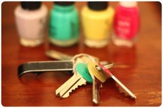 Pintar las llaves y cubiertos 1