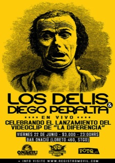 Los Delis y Diego Peralta en vivo 1