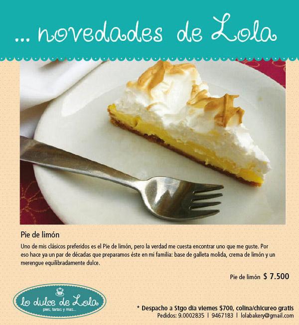 Lo dulce de Lola: Pie de limón 3