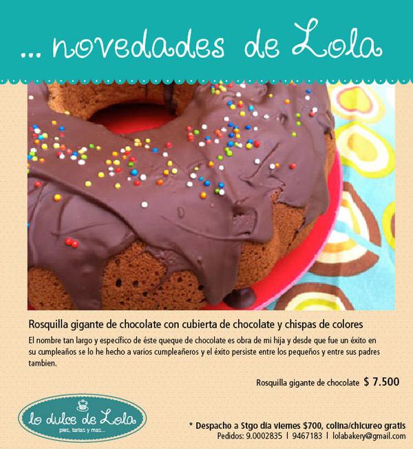 Lo dulce de Lola: Rosquilla gigante de chocolate 1