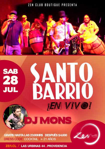 Santo Barrio en Club Zen 1