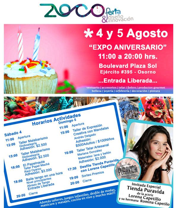 Expo Zoco, Diseño+Innovación, 2° aniversario 1