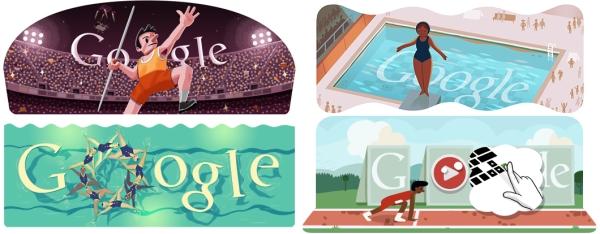 Los doodles olímpicos de Google 1