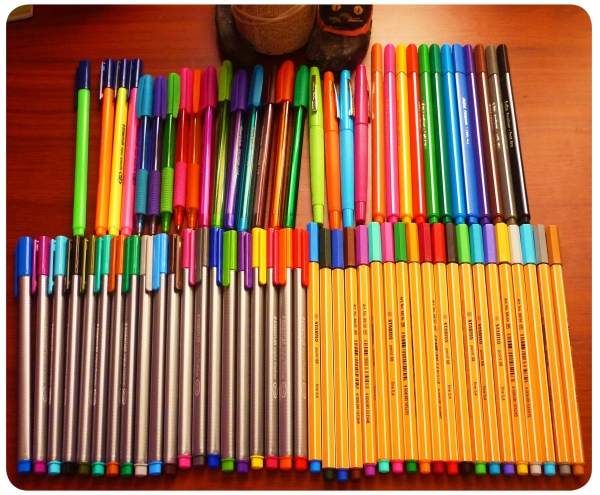 Objeto de deseo: lápices de tinta/pasta de colores 1
