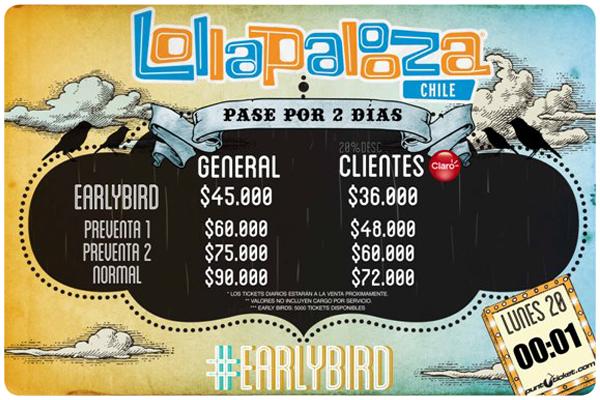 Comienza la venta de entradas  para Lollapalooza 2013 2