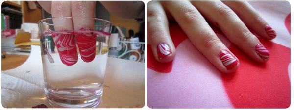 Pintarse las uñas con agua 1