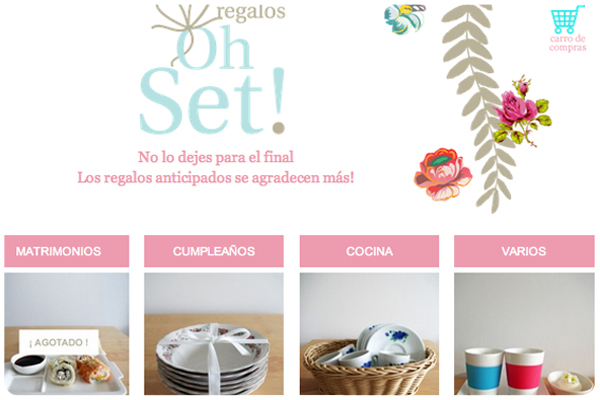 Decoración y regalos: Oh Set 3
