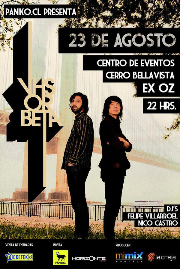 Fiesta Paniko: VHS or Beta + Dj's Felipe Villarroel y Nico Castro 1
