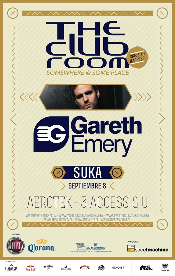 The Club Room presenta a Gareth Emery en Chile 3