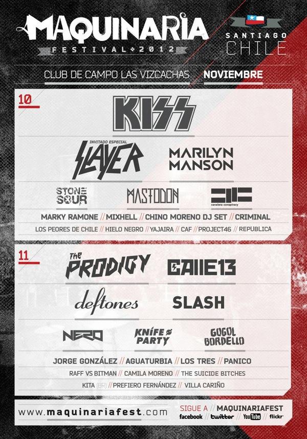 El line up final de Maquinaria 2012 3