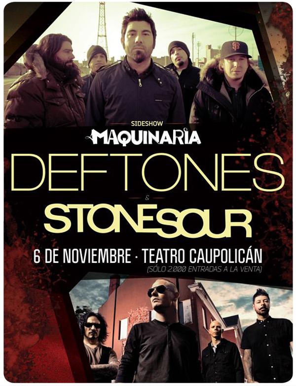 Deftones Y Stone Sour se reunirán en concierto paralelo 3