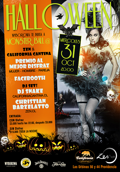 Halloween en Zen & California Cantina 1