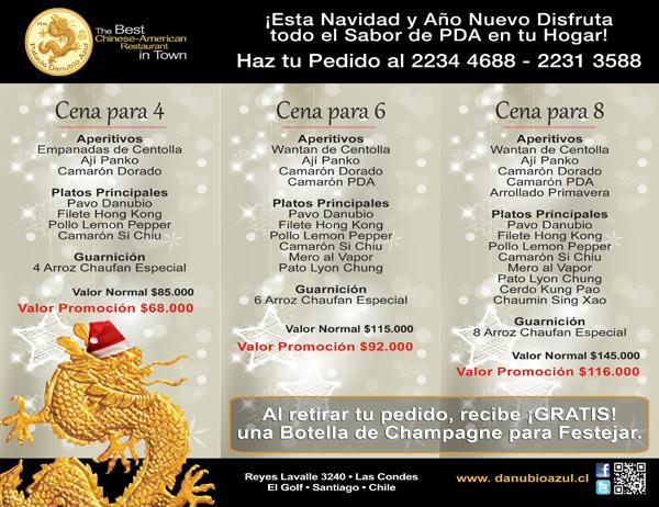Cenas de Navidad y Año Nuevo de Palacio Danubio Azul a tu casa @DanubioPDA 9