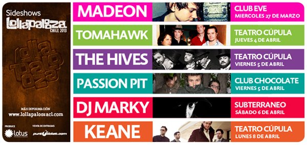 Lollapalooza 2013: los Sideshows! 1