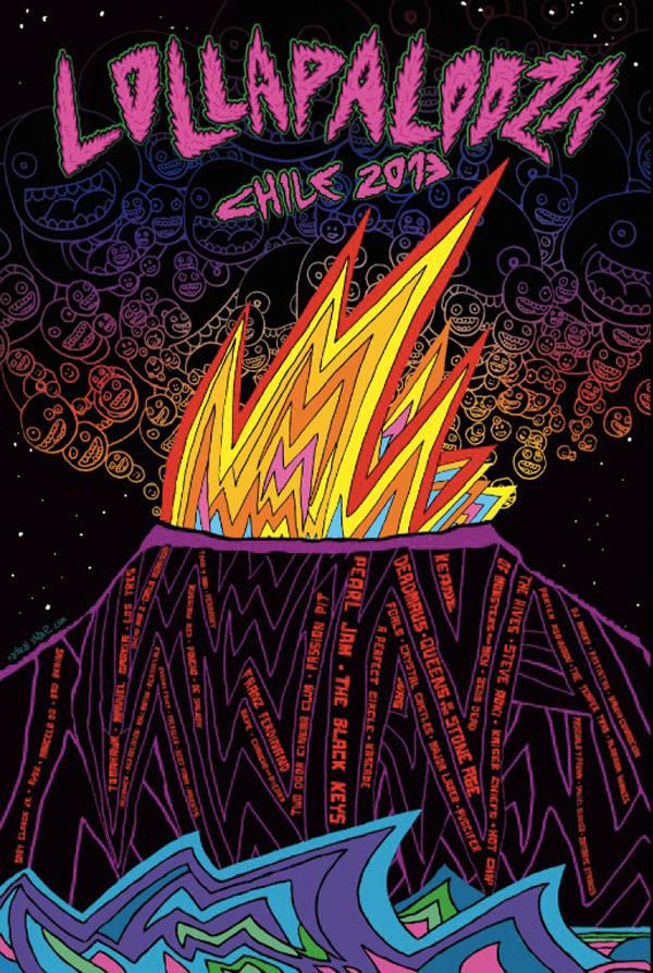 POSTER-LOLLAPALOOZA-CHILE-2013---IGNACIO-PRIETO