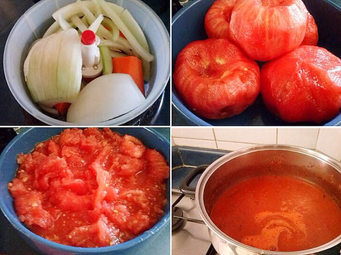 salsa de tomates casera