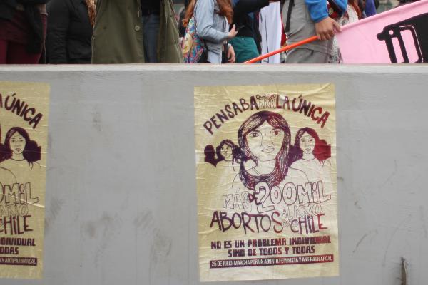 Marcha por el aborto libre, gratuito y seguro en ciudades de todo Chile 1