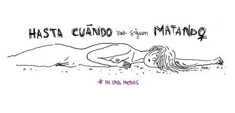 Las diferentes ilustraciones de #NiUnaMenos 18