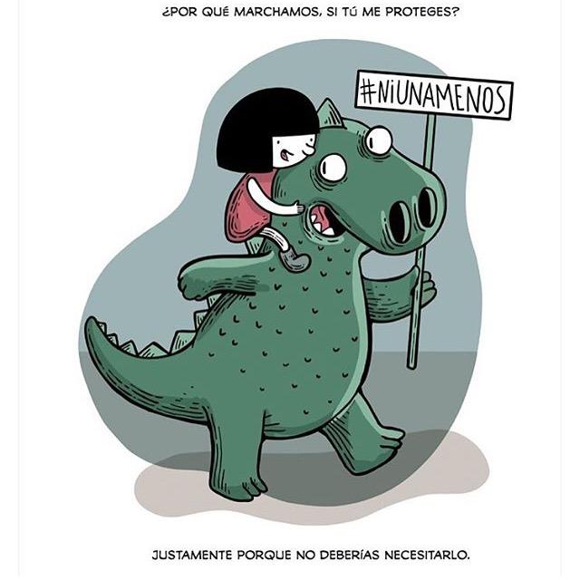 Las diferentes ilustraciones de #NiUnaMenos 11