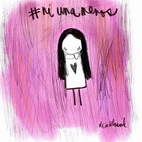 Las diferentes ilustraciones de #NiUnaMenos 17