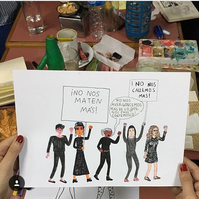 Las diferentes ilustraciones de #NiUnaMenos 9