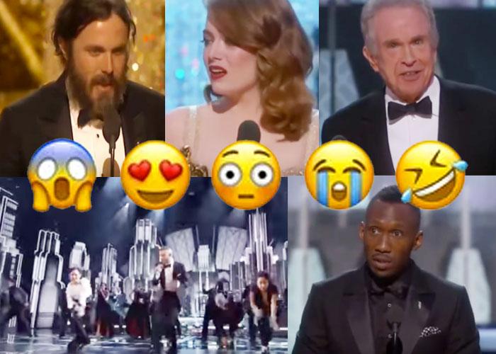 Mucha música y confusión en los premios Oscar 2017