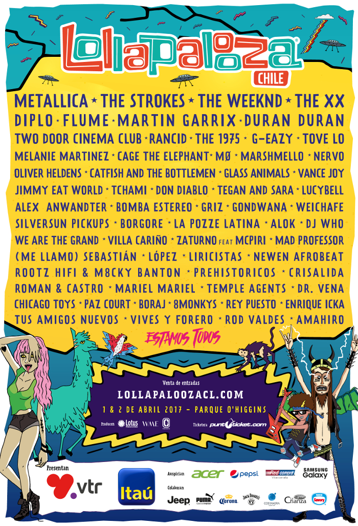horarios de Lollapalooza Chile 2017