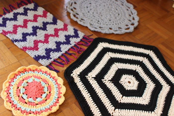 Taller de alfombra de trapillo a crochet 1