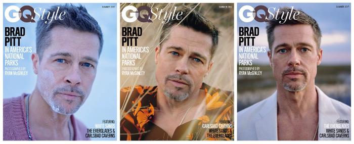 El delgado y vulnerable Brad Pitt en GQ 1