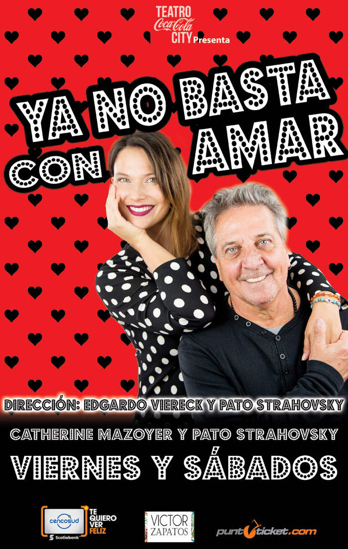 Catherine Mazoyer y Pato Strahovsky juntos en la obra