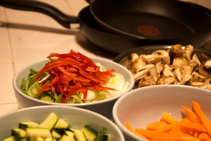 2 recetas de rollos de verduras