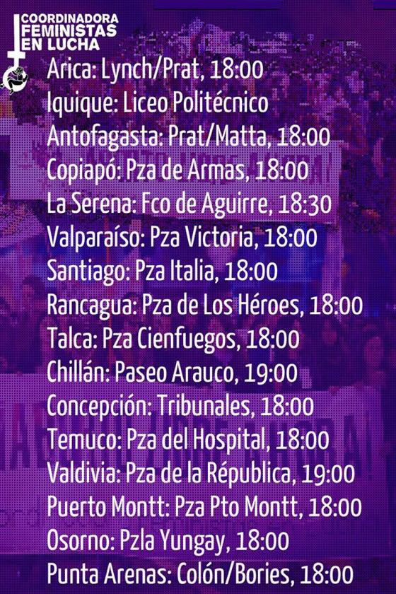 Marcha por el aborto libre, gratuito y seguro en ciudades de todo Chile 2