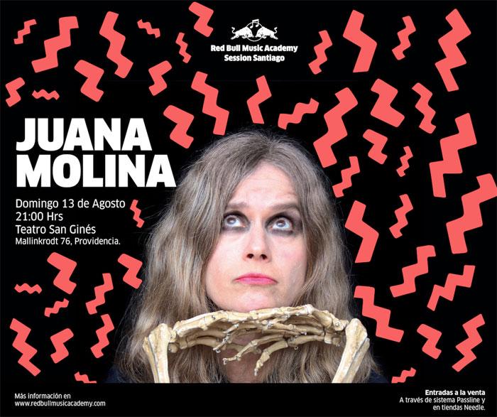 Juana Molina confirma 2da fecha para Red Bull Music Academy 1