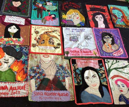 Arpilleras para recordar a las víctimas de femicidio 1