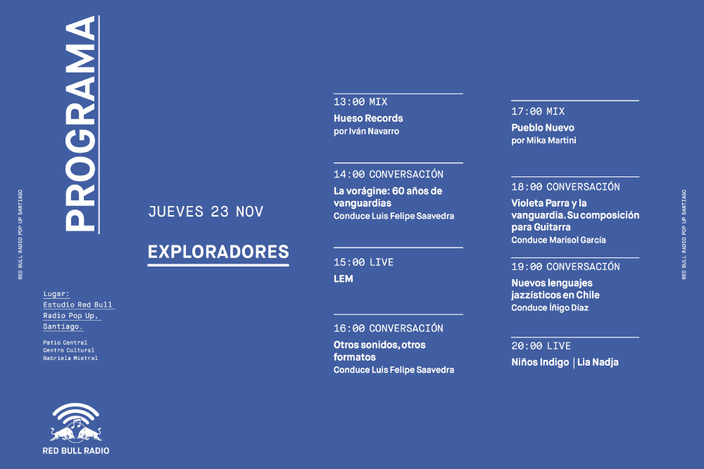 Conoce la programación completa de Red Bull Radio Pop Up Santiago 4