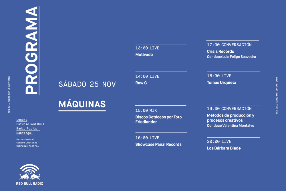Conoce la programación completa de Red Bull Radio Pop Up Santiago 6