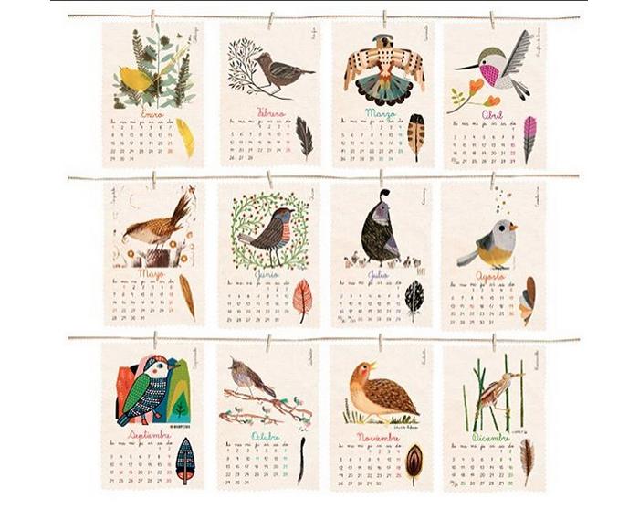 El precioso (¡y reciclable!) calendario Plumas de La Pipa Flor 1