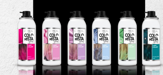 Colorista en spray, cabello de colores que sale con un lavado 1