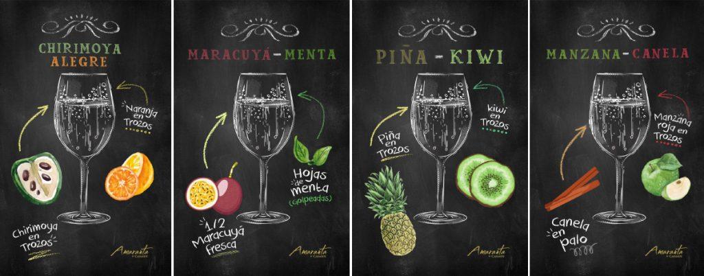 La Espumantería Amaranta: exquisitas recetas de espumante + frutas 6