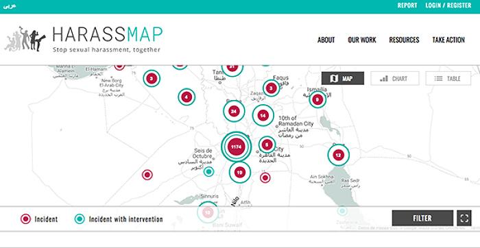 Harrassmap, el mapa del acoso en Egipto 1