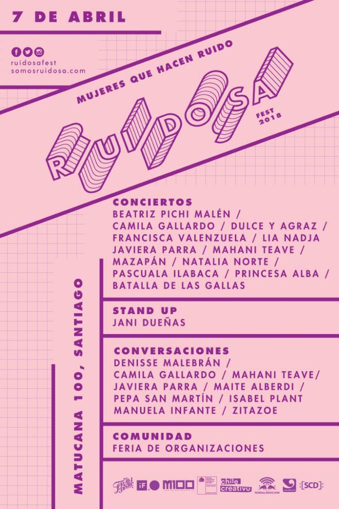 Revisa la programación completa de Ruidosa Fest Santiago 2018 1