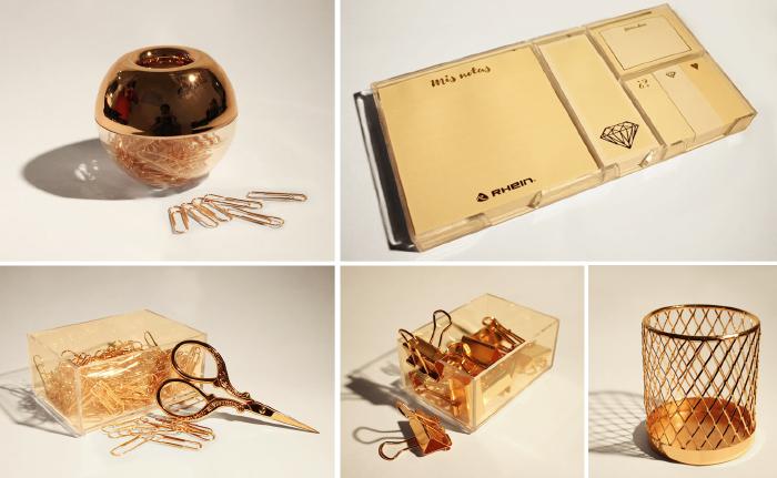 Gana un set de la colección de artículos de escritorio Rose-gold Rhein 1