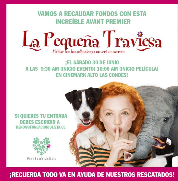 """Avant premier de """"La Pequeña Traviesa"""" a beneficio de Fundación Julieta 1"""
