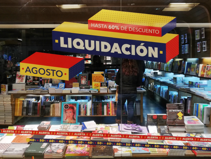 Comenzó la liquidación en librerías Contrapunto 4